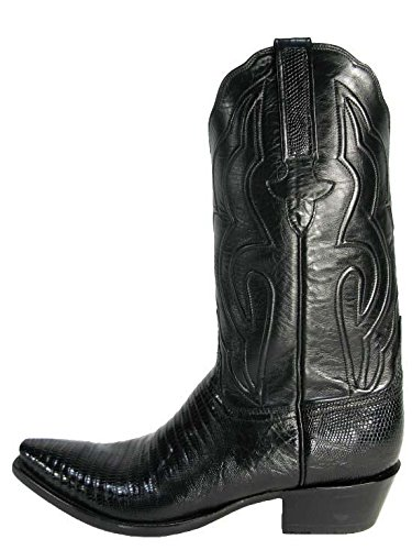 Beautiful Lucchese Black Lizard Cowboy Boots for Men