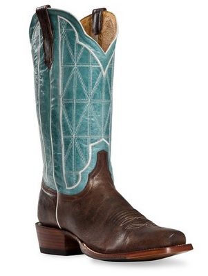 blue and brown classic cowboy boots for men