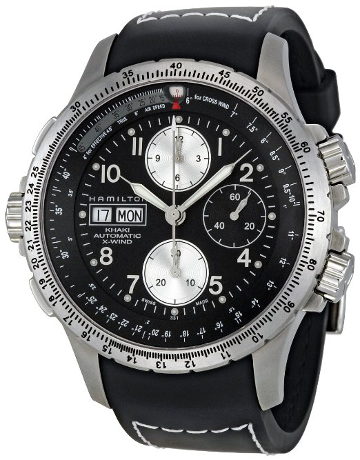 hamilton black watch for men