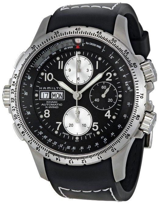 hamilton black watch for men