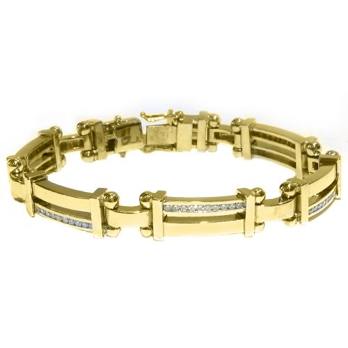 solid gold diamond bracelet for men