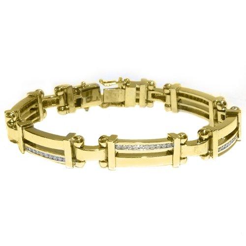 Solid gold bracelet for men