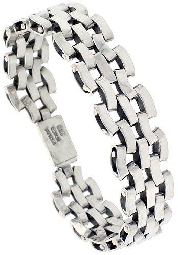 silver mens bracelets