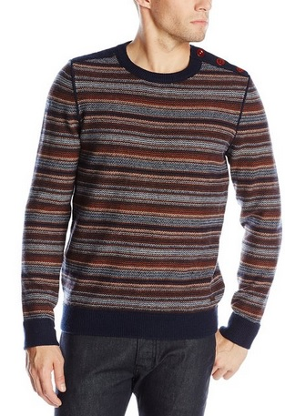 Beautiful Striped Crew Neck Knit Sweater for Men