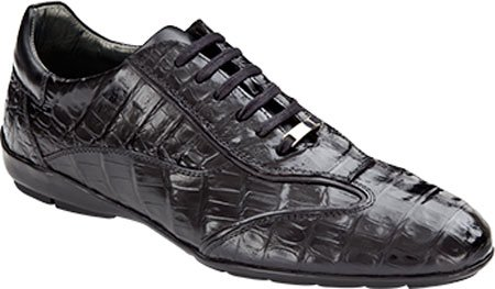 exotic black croc sneakers for men