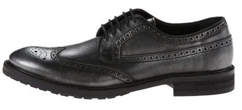 John Varvatos Men's Sid Welted Wing Black Oxford Shoes