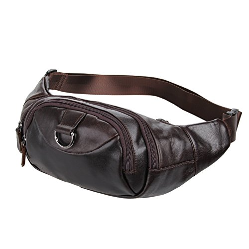 Stylish Cowhide Leather Fanny Pack for Men