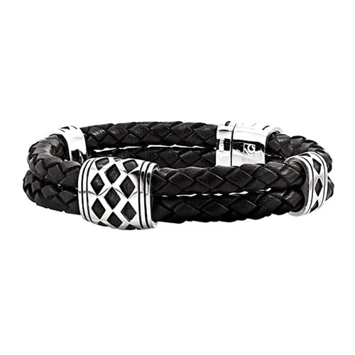 cool leather bracelet for men