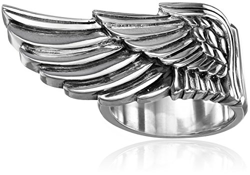 Sterling Silver Men's Wing Ring