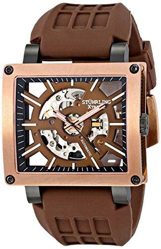 Stuhrling Original Men's Self Wind Brown Watch