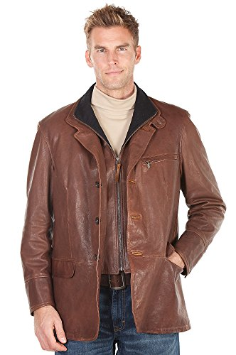Fancy Brown Leather Jacket for Guys