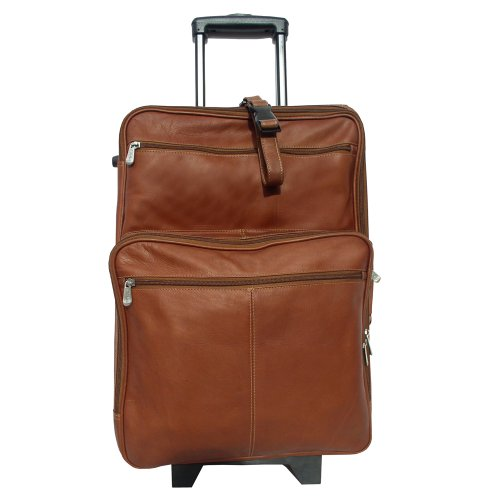 Genuine Leather 22 Inch Wheeled Traveler