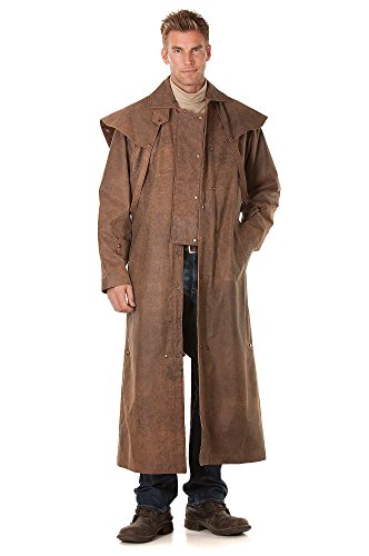 Gorgeous Long Leather Coat for Men
