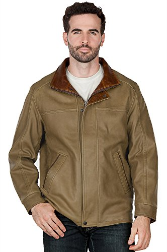 Denver English Lambskin Leather Jacket for men