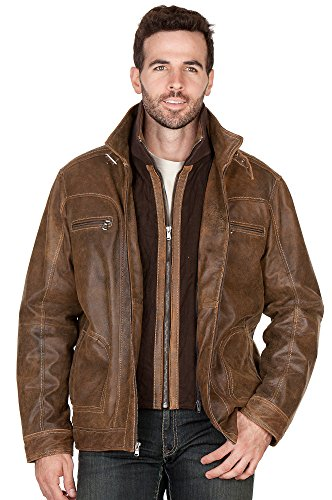 Beautiful Lambskin Brown Leather Jacket for Men