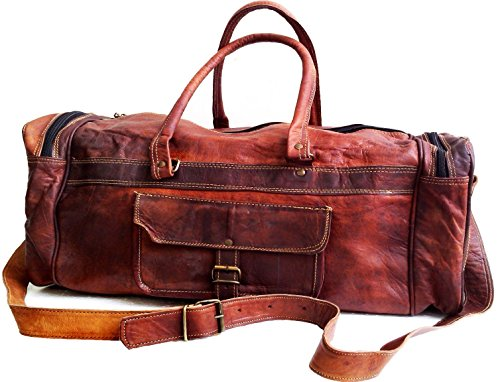 Men's Genuine Leather Vintage Duffle Bag