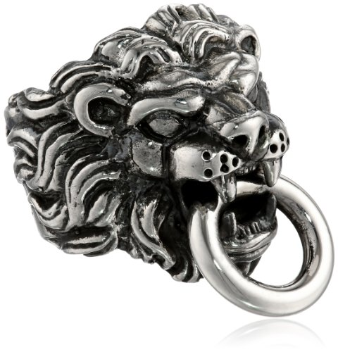 Awesome King Baby Men's Lion's Head Sterling Silver Ring