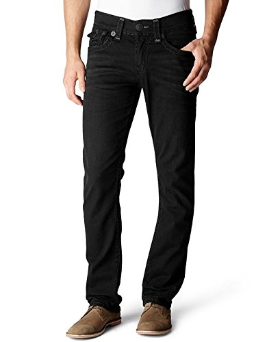 Super T Straight-Leg Black Jeans for Men