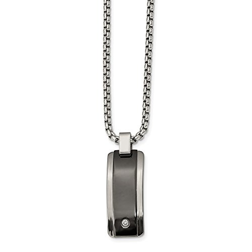 Black Titanium Necklace for men