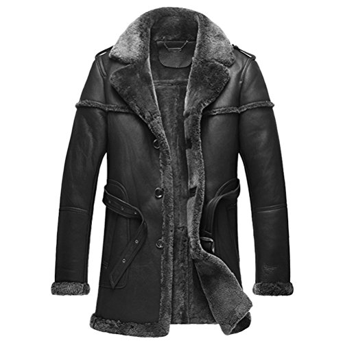 warm lamb fur coats for men